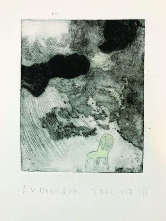 Gravure au carborundum, image jour/nuit