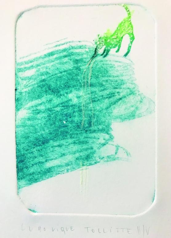 Gravure au sucre en 3 couleurs, image jour/nuit